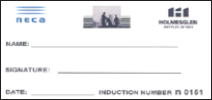 NECA induction card