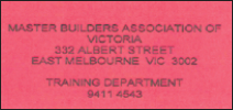 MBAV induction card back