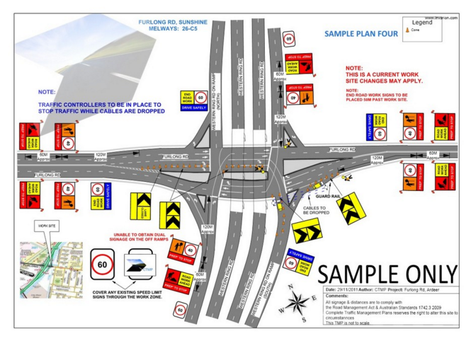 Peel Valley Traffic Control Sample Traffic Management plan